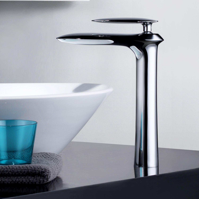 2018 Modern Single Hole Handle Bathroom Vessel Sink Faucet Chrome ...