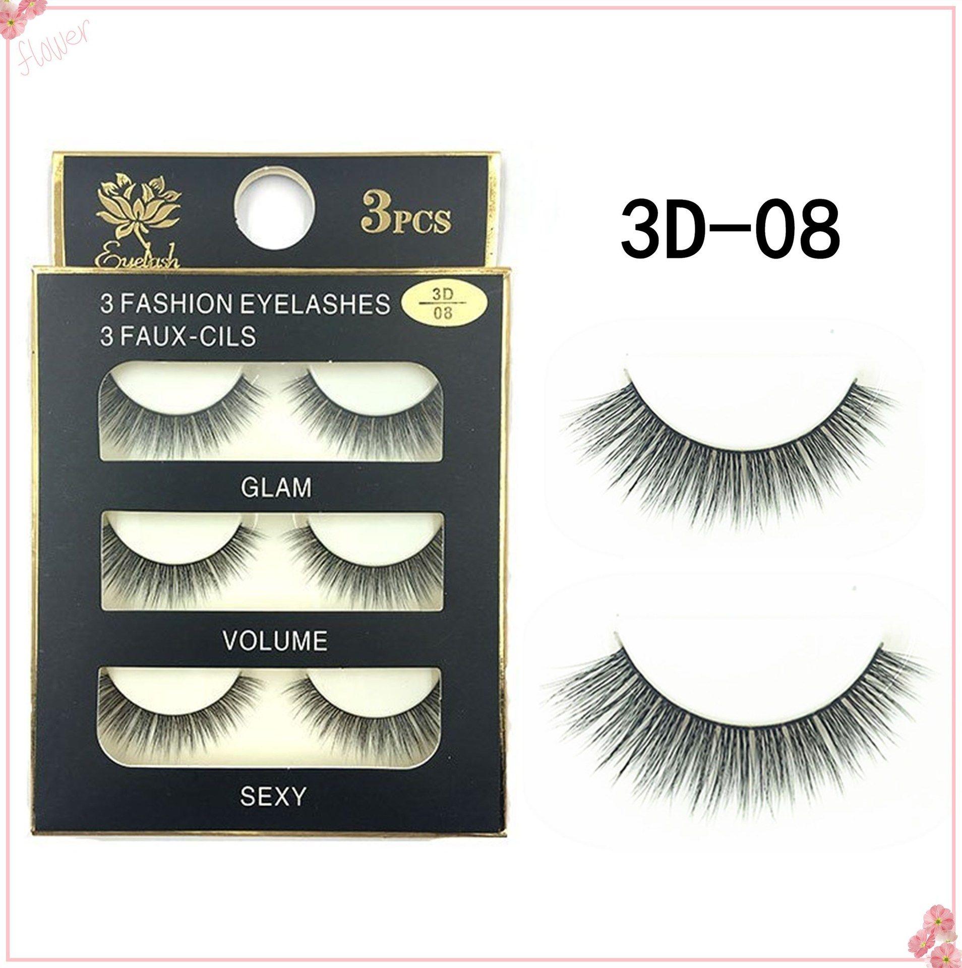 2d05c83271c New Stye New 3D Natural Cross Thick Curly Messy False Eyelashes Long Makeup  3D Lashes Fake Eye Lashes Extension Make Up Beauty Eyelashes Eyelash  Extensions ...