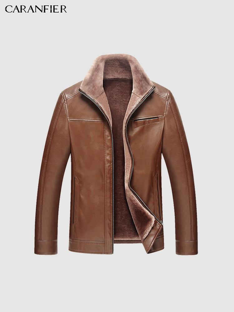 Mens Leather Jackets High Quality Thicken Velvet Coats Classic Parka Outerwear Motorcycle Biker Warm Soft PU Overcoats