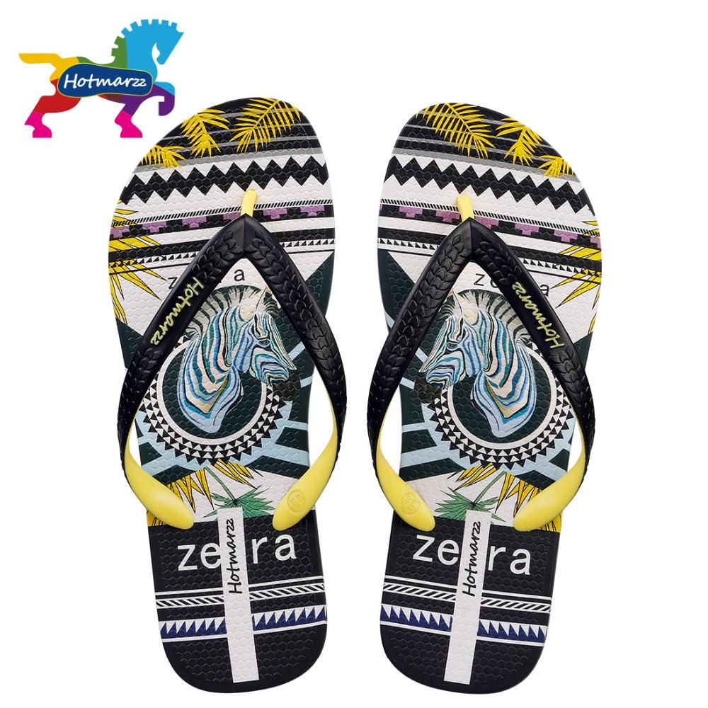 2d2ac08c70b0b2 Hotmarzz Men Sandals Women Unisex Slippers Zebra Pattern Summer Beach Flip  Flops Designer Fashion Comfortable Pool Travel Slides Western Boots  Discount ...