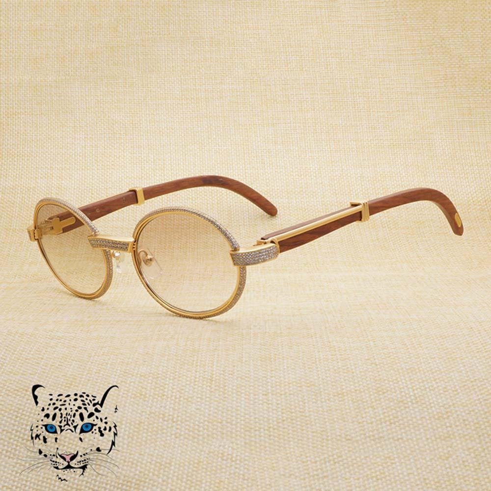 b79b1af8b Vintage Diamond Sunglasses Round Sun Glasses For Show Luxury Eyewear In  Concert Speech Business Stone Wood Sunglasses Tint Lens Frame 0178  Sunglasses Sale ...