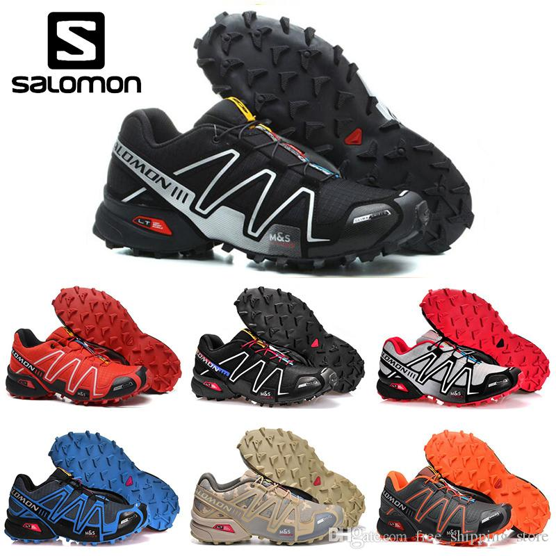 wholesale dealer 4ee04 ad4f6 Original Salomon Speedcross 3 CS Mens Running Shoes Black White Men  Lightweight Sneakers Zapatos Waterproof Athletic Sports Shoe Size 40 46  Trail Running ...