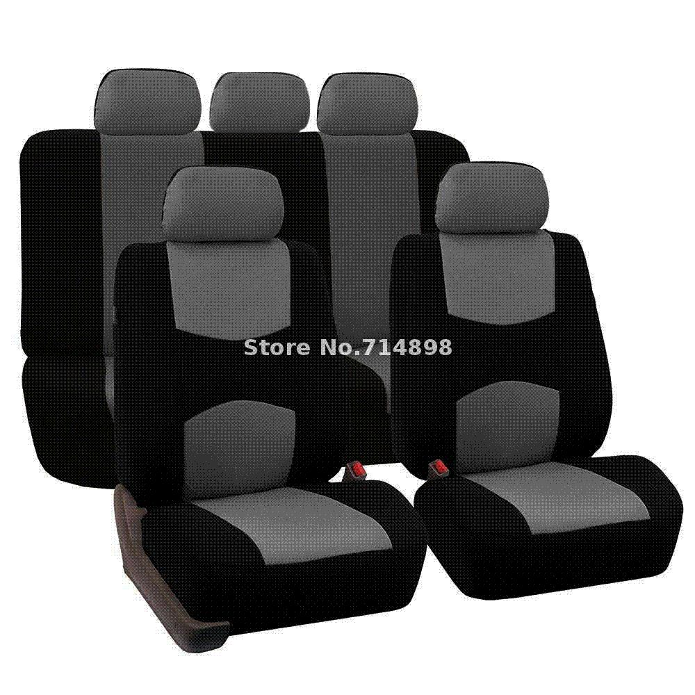 Carnong Car Seat Cover Universal Jersey Fabric Full Set Light Weight Interior Accessory Rear NOT DETACH Auto Replacement