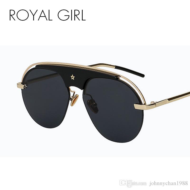 8c41993bca ROYAL GIRL Oval Steampunk Sunglasses Women 2018 Brand Designer ...