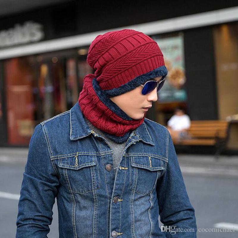 Nwest الرجال الدافئة القبعات قبعة وشاح الشتاء سوبر الدفء الصوف قبعة الحياكة للرجال قبعات سيدة قبعة محبوك القبعات القبعات النسائية
