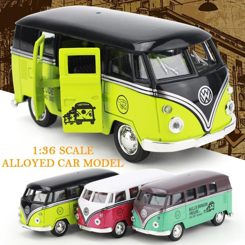 1 36 scale reaationary alloyed vw bus model children s holiday gift