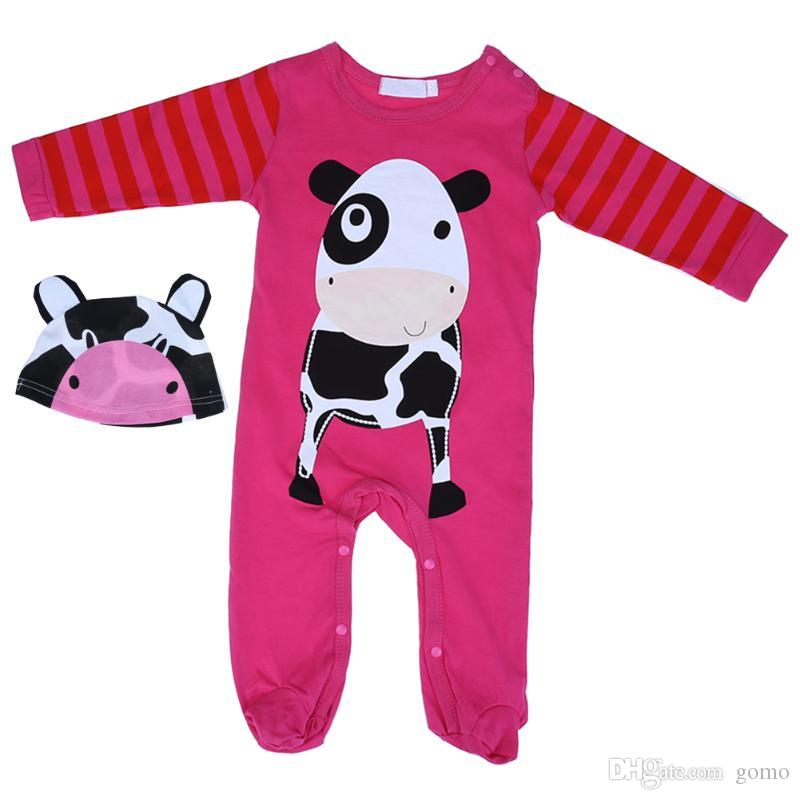 661b7bed60b7 2019 Newborn Baby Boys Girls Clothes Infant Cartoon Panda Lion Tiger ...