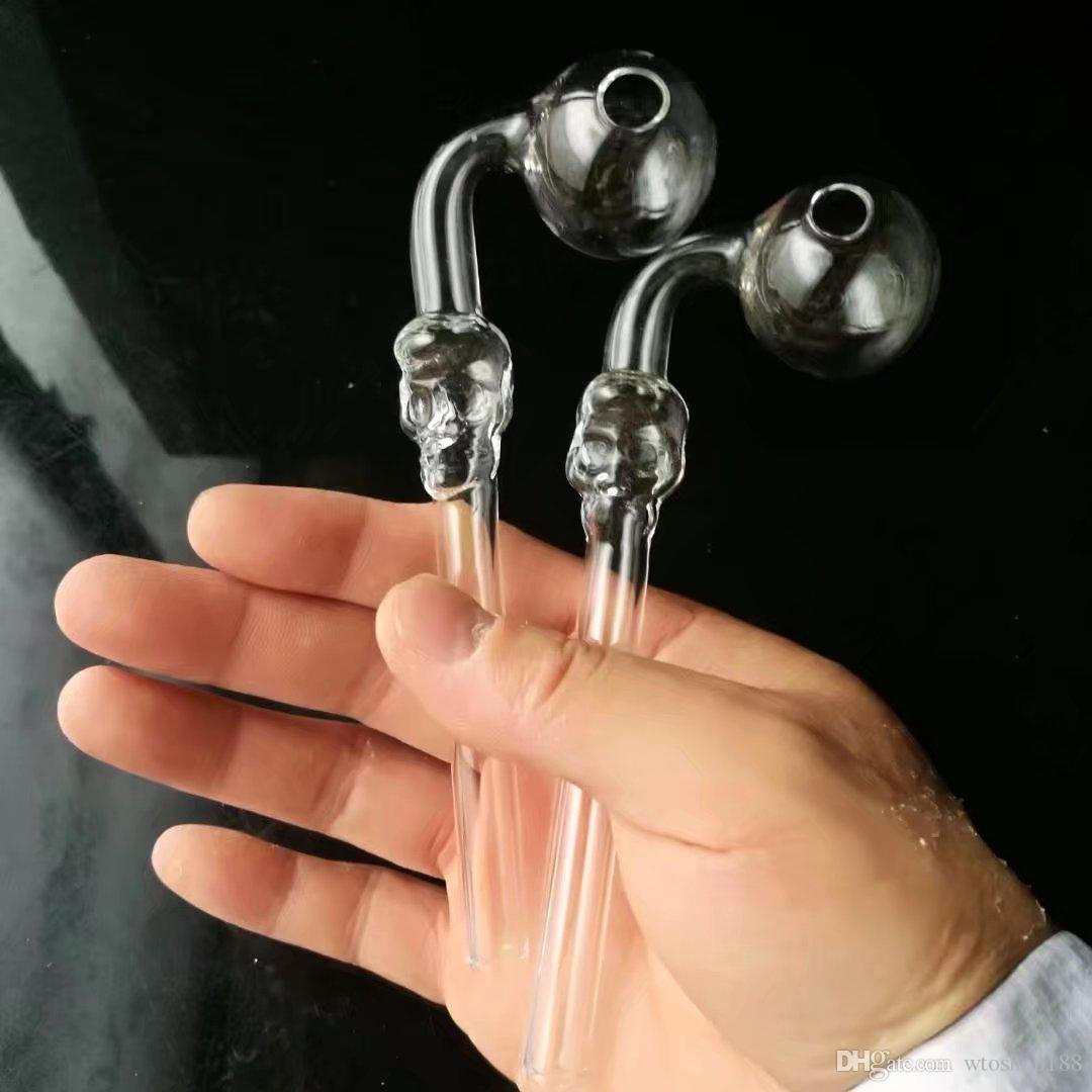 Transparent skull bone long curved pot ,Wholesale Glass bongs Oil Water Pipes Glass Pipe Oil Rigs Smoking ,