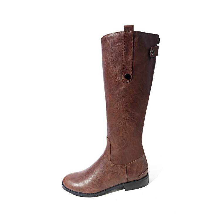 7b3a3a17ec59 Fashion Women Thigh Boots Knee High Slim Zipper Boots Solid Colors Riding  Women Elegant Comfortable Winter Sexy Waterproof Boot Rubber Boots Ski Boots  From ...