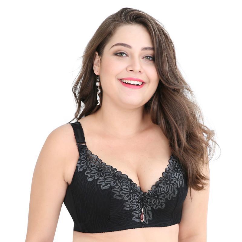 edb7b0b7e Compre D E Taça Lace Sutiã Push Up Para Plus Size Mulheres 44 46 48 50  Mulheres Copo Grande Sutiãs Sutiã De Chsc