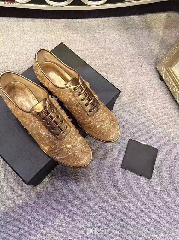Zapatos de mujer con estilo, tacones gruesos, decorados con brillos, tamaño 34-40, envío gratuito, trabajo de parche, buenos precios, colores para elegir