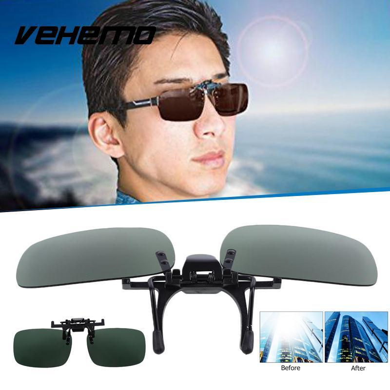 c7e358d436 Vehemo Polarized Lenses Mirror Flip Up Clip On For Sunglasses Outdoor  Driving Motorcycle Goggles With Prescription Lenses Motorcycle Over Glasses  Goggles ...