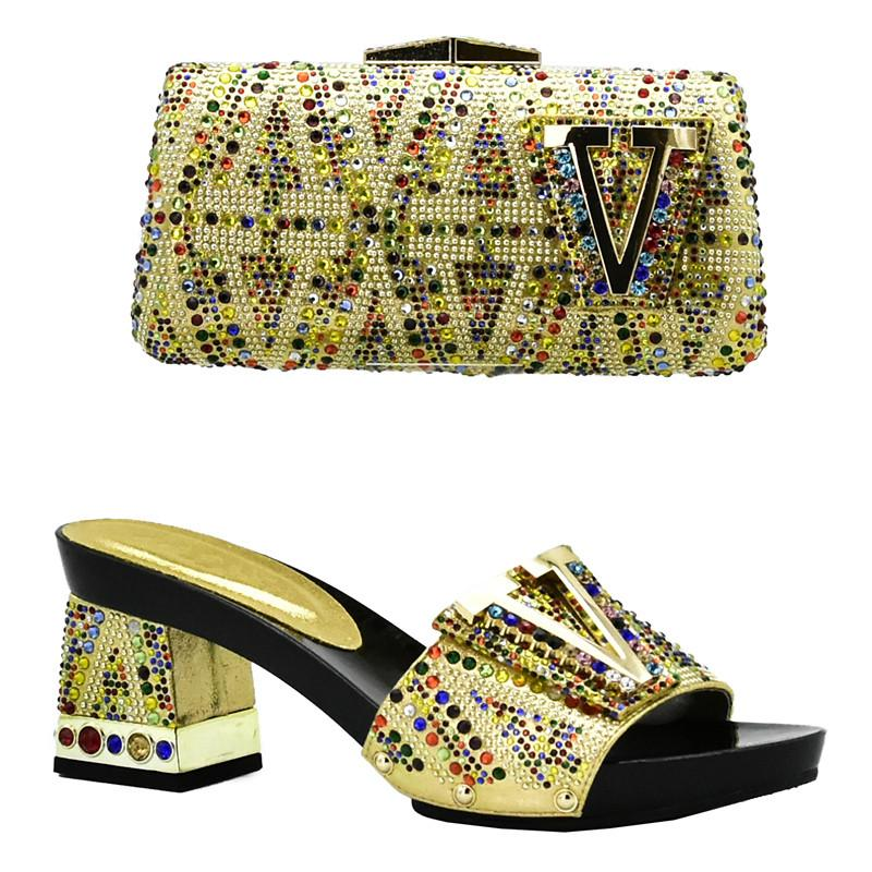Women Italian African Party Pumps Shoes And Bag Set Decorated with  Rhinestone African Italian Shoes And Bag Set Party Shoes Bag 2018 New  Arrival Women ... a2c066292ca1