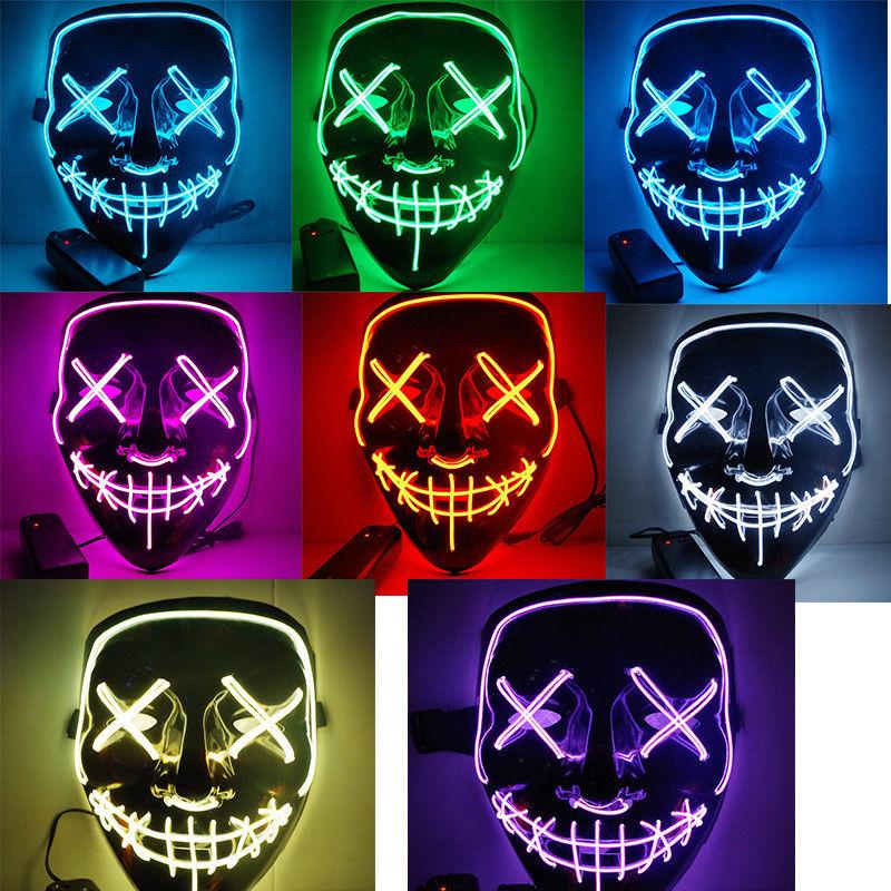 Novelty & Special Use Popular Brand Dropshipping El Wire Mask Light Up Neon Skull Led Mask For Halloween Party 2018 Theme Cosplay Masks Ship From Us Costumes & Accessories