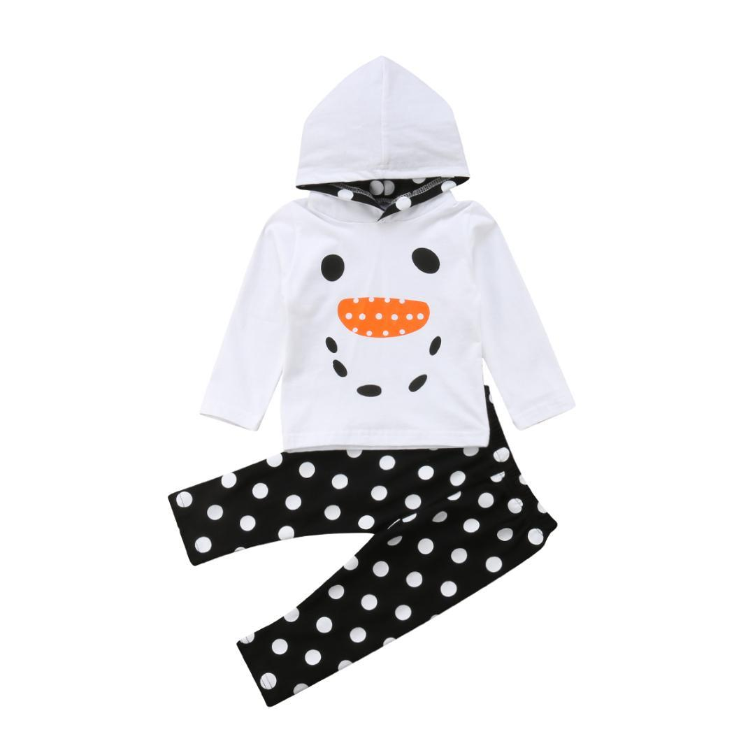 2890a0e69 2019 Newborn Infant Toddler Baby Boy Girl Clothes Smile Hoodie Sweatshirt  Tops Polka Dot Long Pants Outfits Set From Coolhi, $44.19 | DHgate.Com