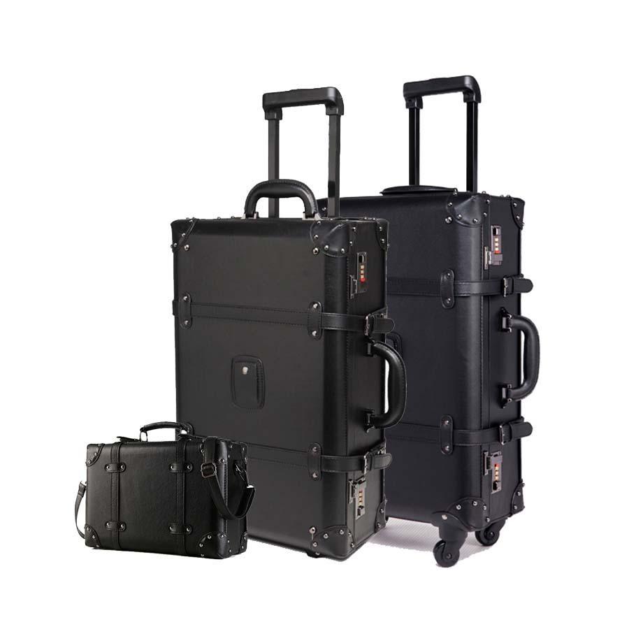 Verwonderlijk Großhandel Retro Black Rolling Gepäck Set Spinner Frauen Passwort GG-09