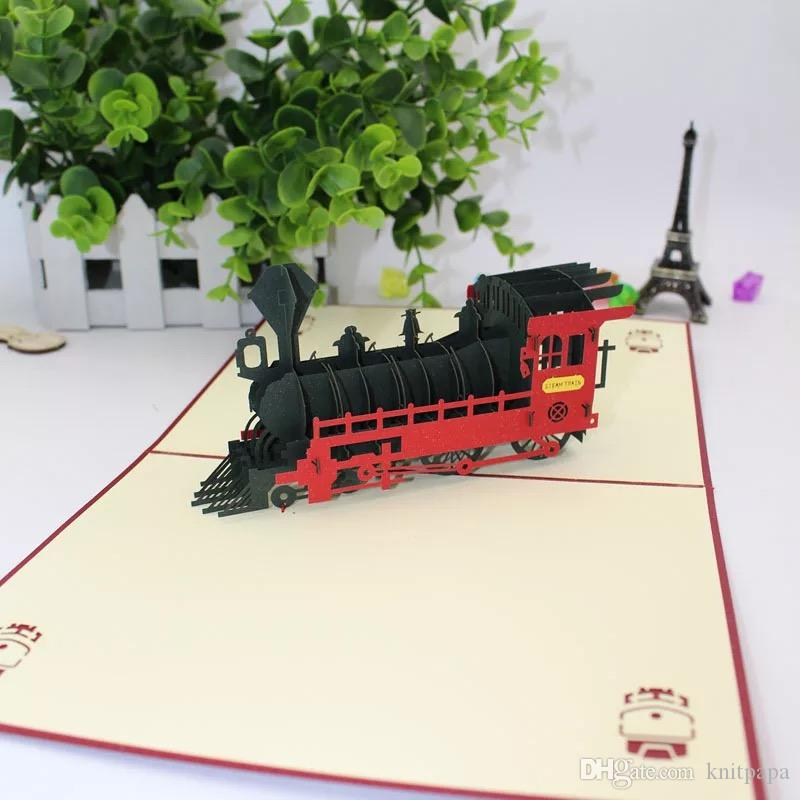 New Creative 3D Greeting Card Carved Paper Cut Home Furnishings ...