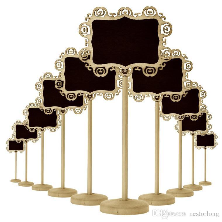 Mini lavagna lavagna rettangolo fai da te direzione segni decorativi bordo nero stand festival scuola forniture all'ingrosso