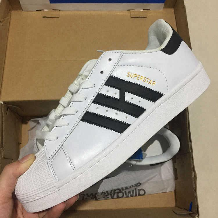 super popular aefc5 112bb Großhandel Adidas Superstar Adidas Boost Supreme Off White 2018 Superstar  Original White Hologramm Schillernden Junior Gold Superstars Turnschuhe  Originals ...