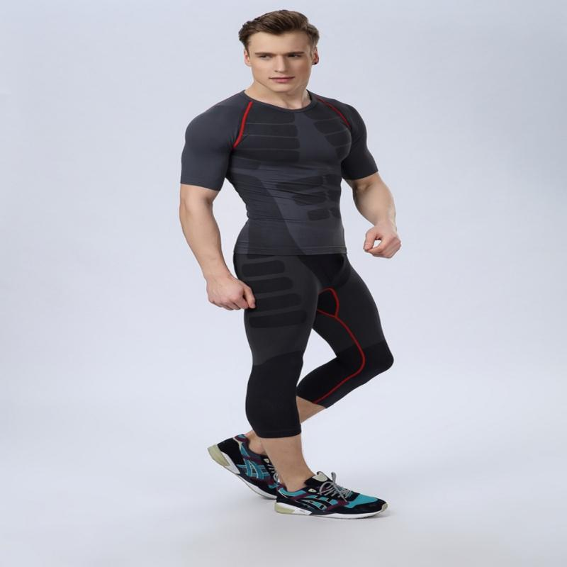 8ce49598f5943 2019 Men Compression Training Sports Men Athletic Pants Base Layers Skin  Tights Cropped Tops M L XL From Masn, $38.41 | DHgate.Com