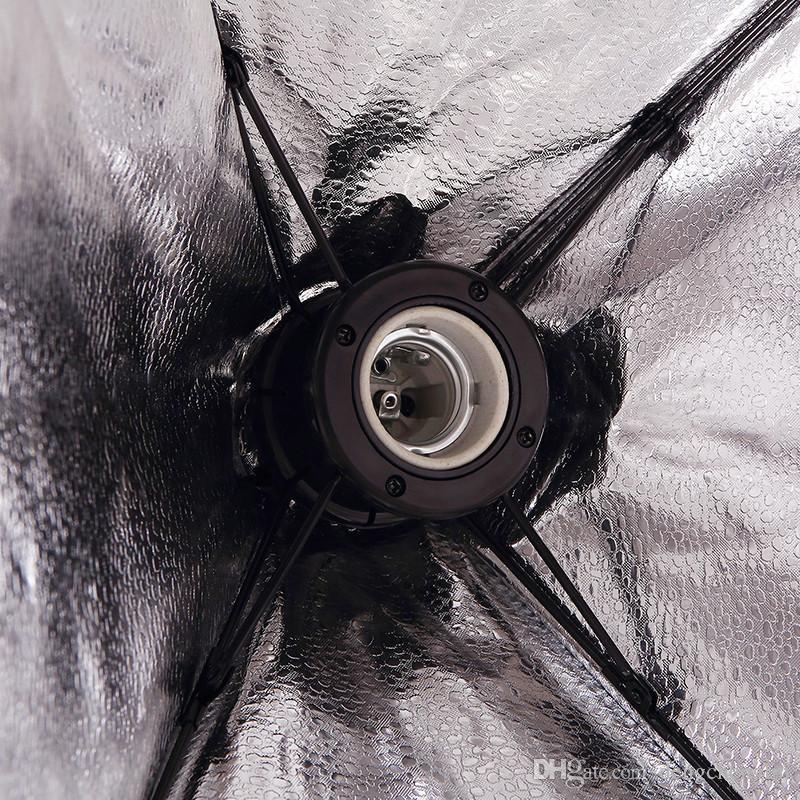 50 * 70 CM Fotoğraf Stüdyosu Kablolu Softbox Lamba Tutucu ile E27 Soket Stüdyo Sürekli Aydınlatma ile Taşıma Çantası