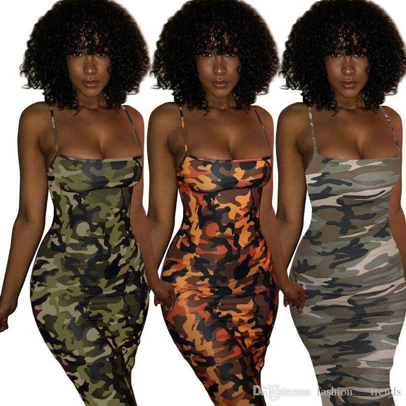 66e63bfc0b Camouflage Plus Size Sexy Dress 2018 Summer Off Shoulder Mini Party Beach  Dress Backless Club Bodycon Dresses For Women Casual Vestidos New
