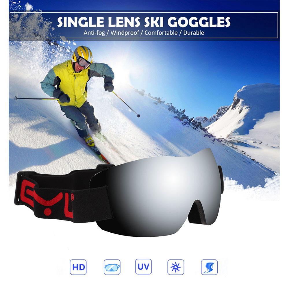 Compre Inverno Anti Nevoeiro Único Lens Óculos De Esqui Das Mulheres Dos  Homens À Prova De Vento De Esqui Ciclismo Óculos De Esqui Snowboard  Snowboard ... eb4ea0a4a4
