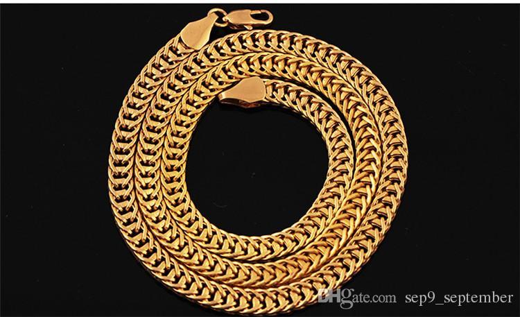 Hip Hop Jóias 6 MM Colar de Corrente de Ouro Nova Chegada Hip Hop Acessórios Moda Colar para Homens