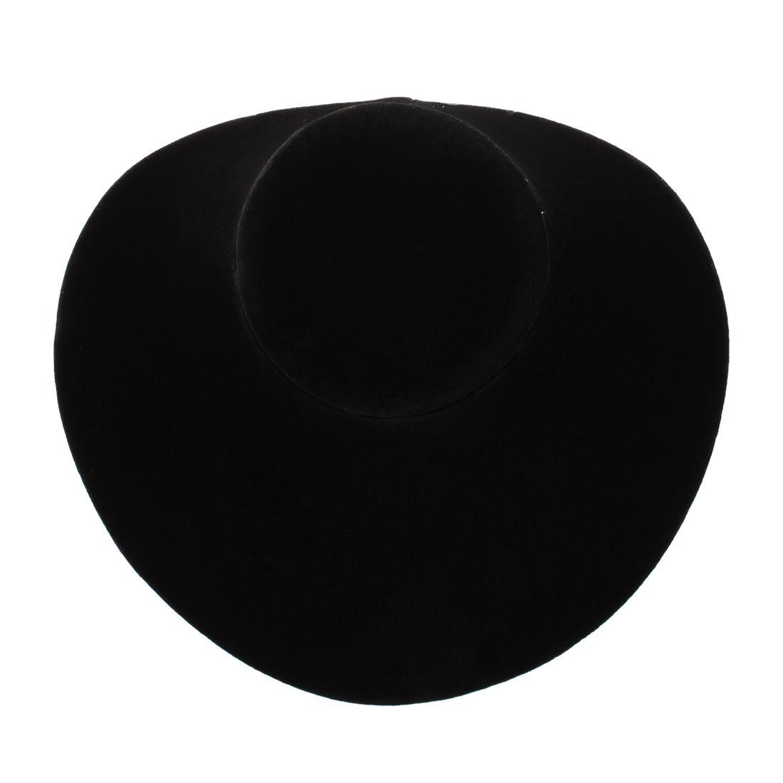 Madera Negro Collar de terciopelo Cadena Joyas Busto Display Holder Soporte Moda 150 * 150 * 140MM