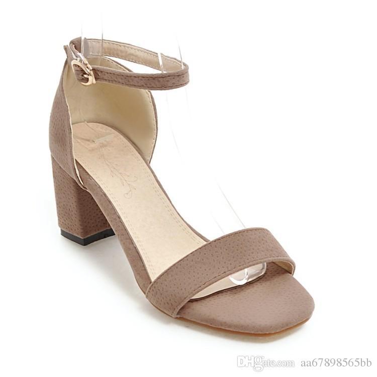 Summer Women Sandals Open Toe Women's Sandles Thick Heel Women Shoes Gladiator Shoes