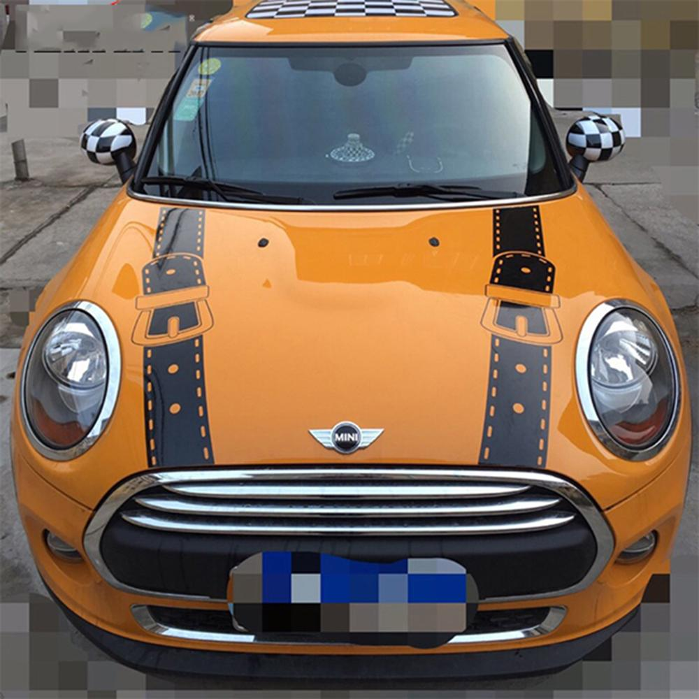 2019 hood bonnet straps car stickers and decals car styling for mini cooper one s jcw countryman f56 f55 f60 r56 r60 r61 accessories from seven7dh