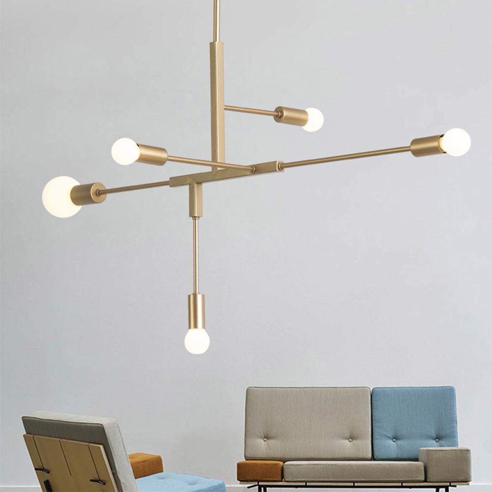 Acquista Nordic Modern Gold LED Lampade A Sospensione Camera Da ...