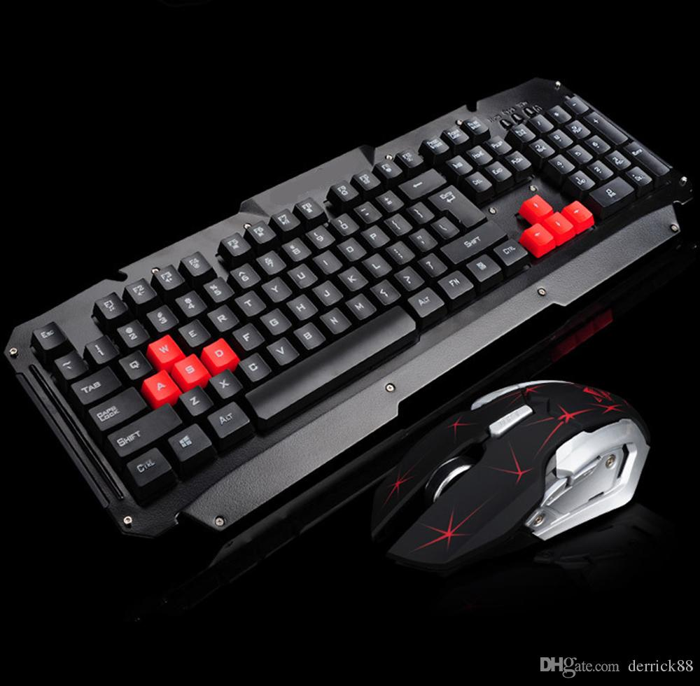 professional ergonomic wireless gaming waterproof dustproof keyboard and mouse combo compatible. Black Bedroom Furniture Sets. Home Design Ideas