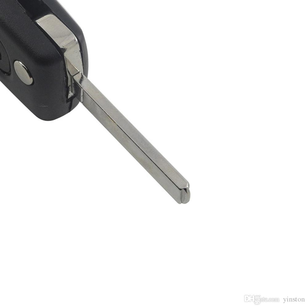 High Quality Peugeot Citroen 2 Button Key Blank With VA2T Blade Remote Key Shell Fob Cover