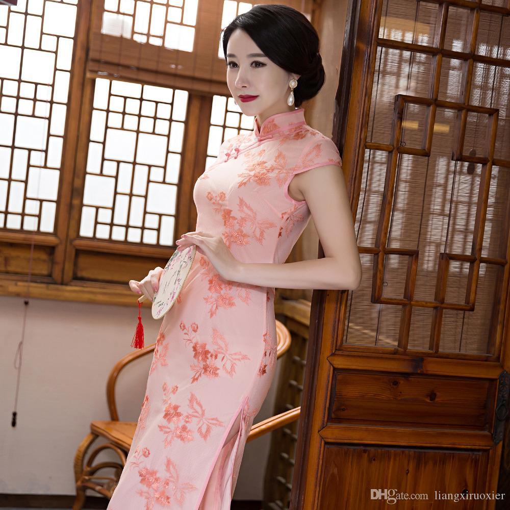 Compre 2017 Nuevas Mujeres Tradicionales Cheongsam Vestido De Fiesta ...