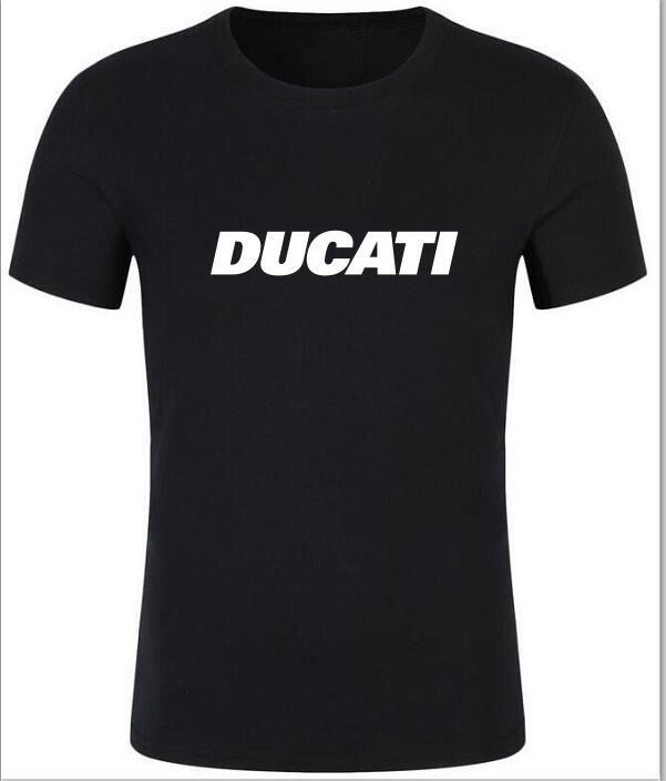 Funny Car T Shirts Ducati Black Logo Short Sleeve T Shirt New Cotton Men Shirts