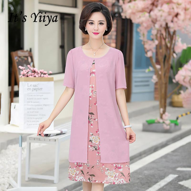49bad7d142e It s Yiiya Mother of the Bride Dresses Chiffon Floral Prints Plus ...