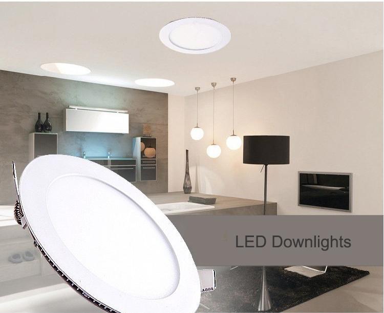 Acquista pz led downlights round lampada da incasso