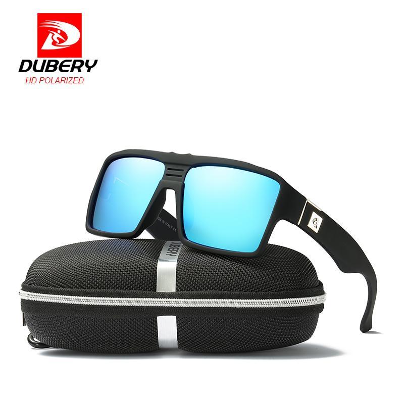 1da96df94a206 Compre DUBERY Polarizada Óculos De Sol Dos Homens Da Marca De Luxo Espelho  Shades Retro Masculino Óculos De Proteção Coloridos Óculos De Sol Para  Homens ...