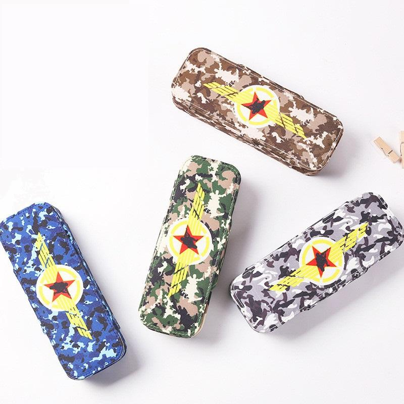 Unisex Camouflage Color Pencil Case for Kids Large Capacity Pencilcase School Pen Case Portable Pencil Bag Pouch School Pen Box