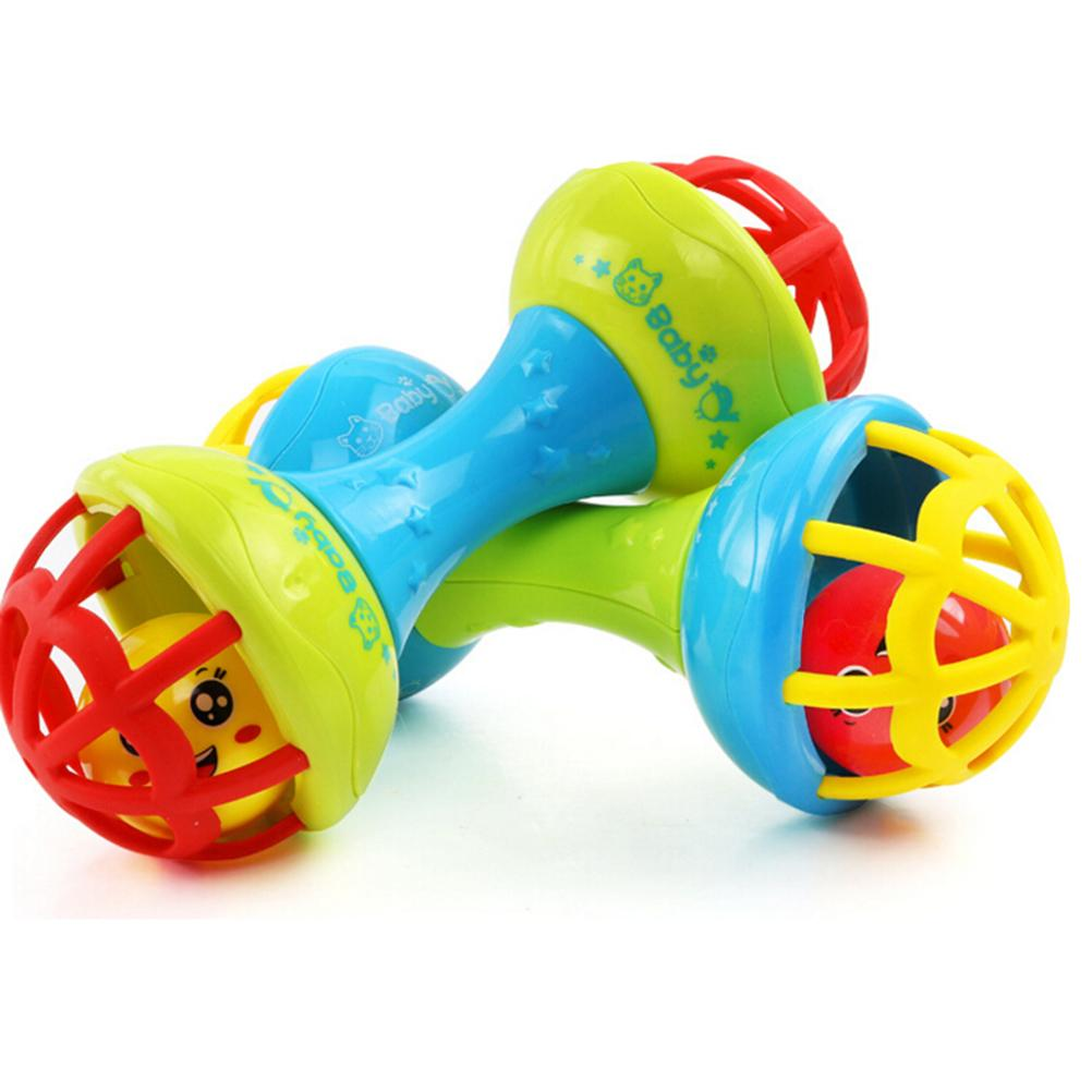 Wholesale- Silicone Baby Toy Safe Rattles Bells Shaking Dumbbells ...