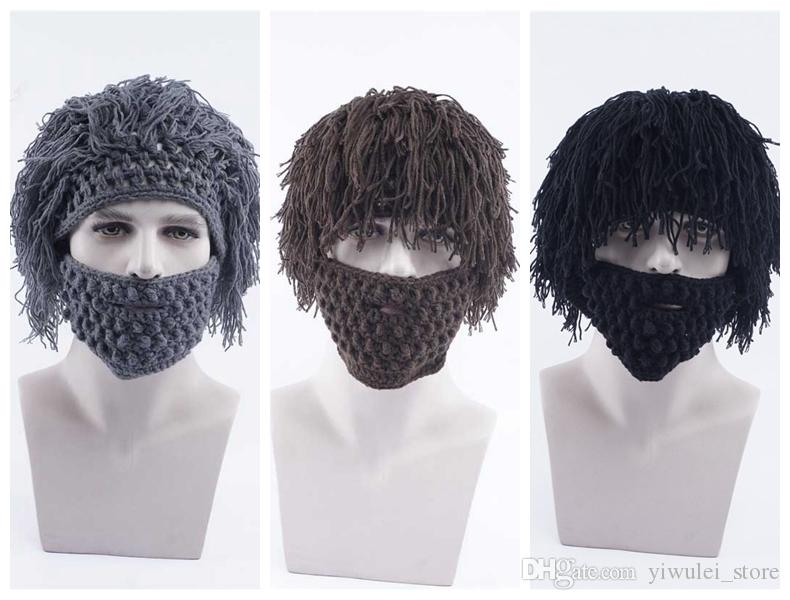 Compre Chicos De Halloween Sombreros De Punto Para Hombre Al Aire ...