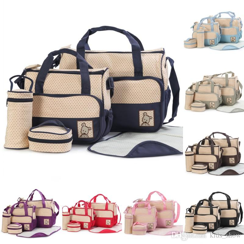 4323dd46eb Baby Diaper Bag Suits For Mom Mommy Bags Nappies Handbags Mummy Stroller Maternity  Nappy Bags Sets Baby Diaper Bag Suits Mommy Bags Nappies Handbags .