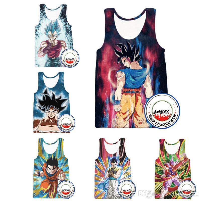 a4b361754a7 Men Women Vest Waistcoat 3D Tanks Top Dragon Ball Tee Goku Vests Couples  Tank Tops Sleeveless Shirt 16 Styles S-5XL
