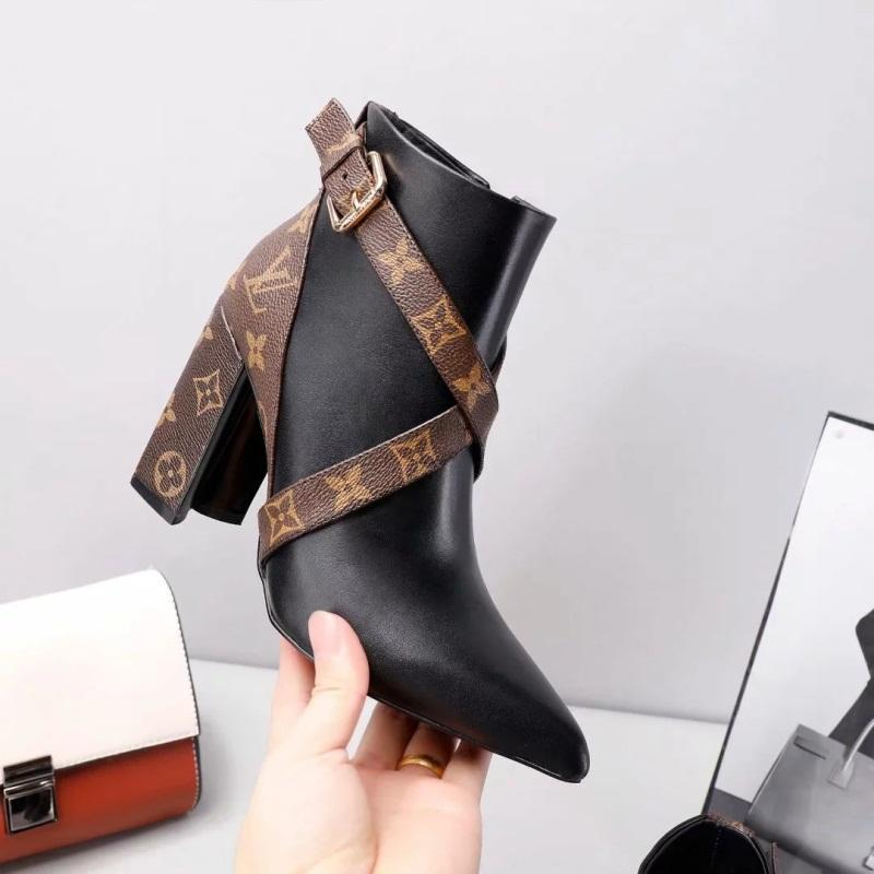 7aacb428 L Designer Luxury Boots Women V France Luxury Brand High Heels Genuine  Leather Women s Winter Boots