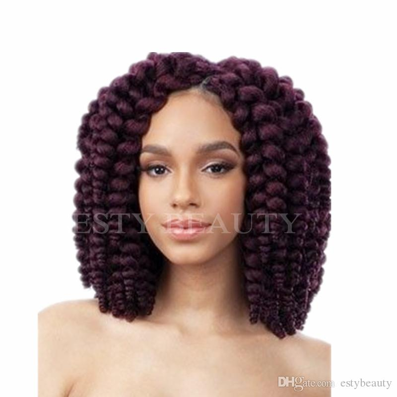 20 Strands/pack Crochet Twist Braids Hair 8Inches Jumpy Wand Curl Synthetic Fiber Braiding Hair Extensions
