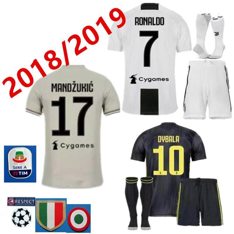 size 40 4c1ab d6836 kit+socks Juventus HIGUAIN RONALDO 7 football shirt 2018 2019  MANDZUKICUADRADO DYBALA MARCHISIO BONUCCI MANDZUKIC CHIELLINI MARCHISIO  footb