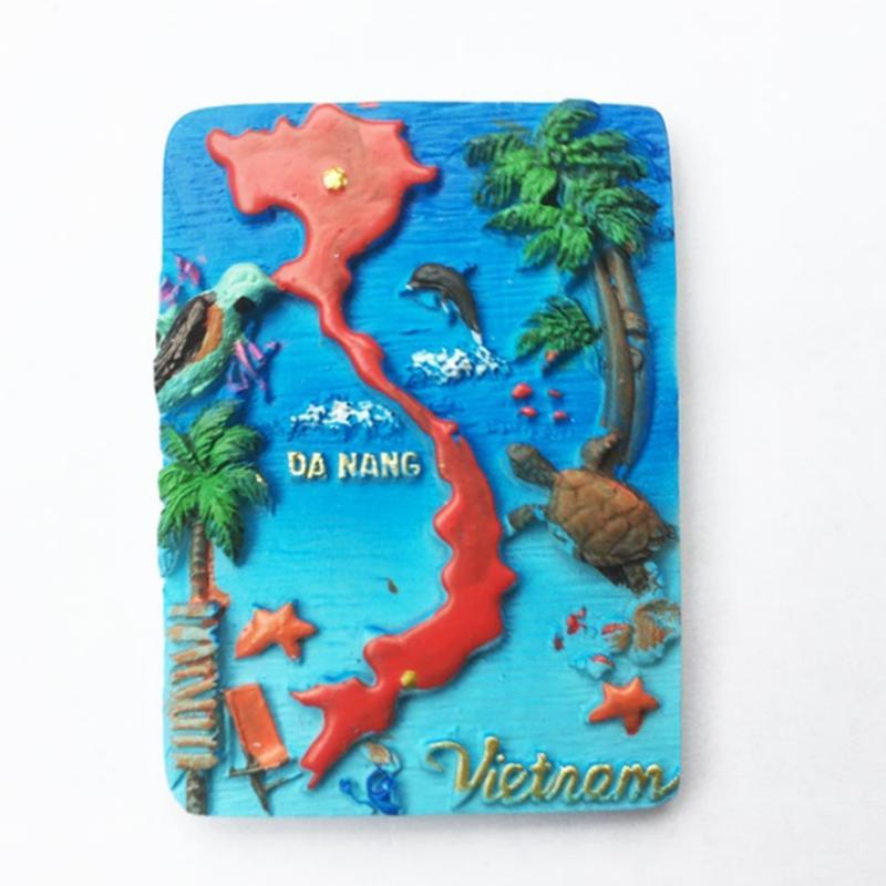 creative vietnam nha trang tourist souvenir magnet paste 3d