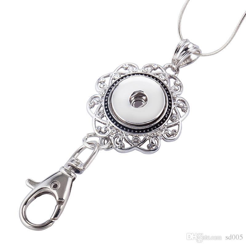 Nuevo llavero Noosa llavero llavero a presión de metal moda jengibre llavero hueco diseño llave con cristal rhinestone 2 8ws Y