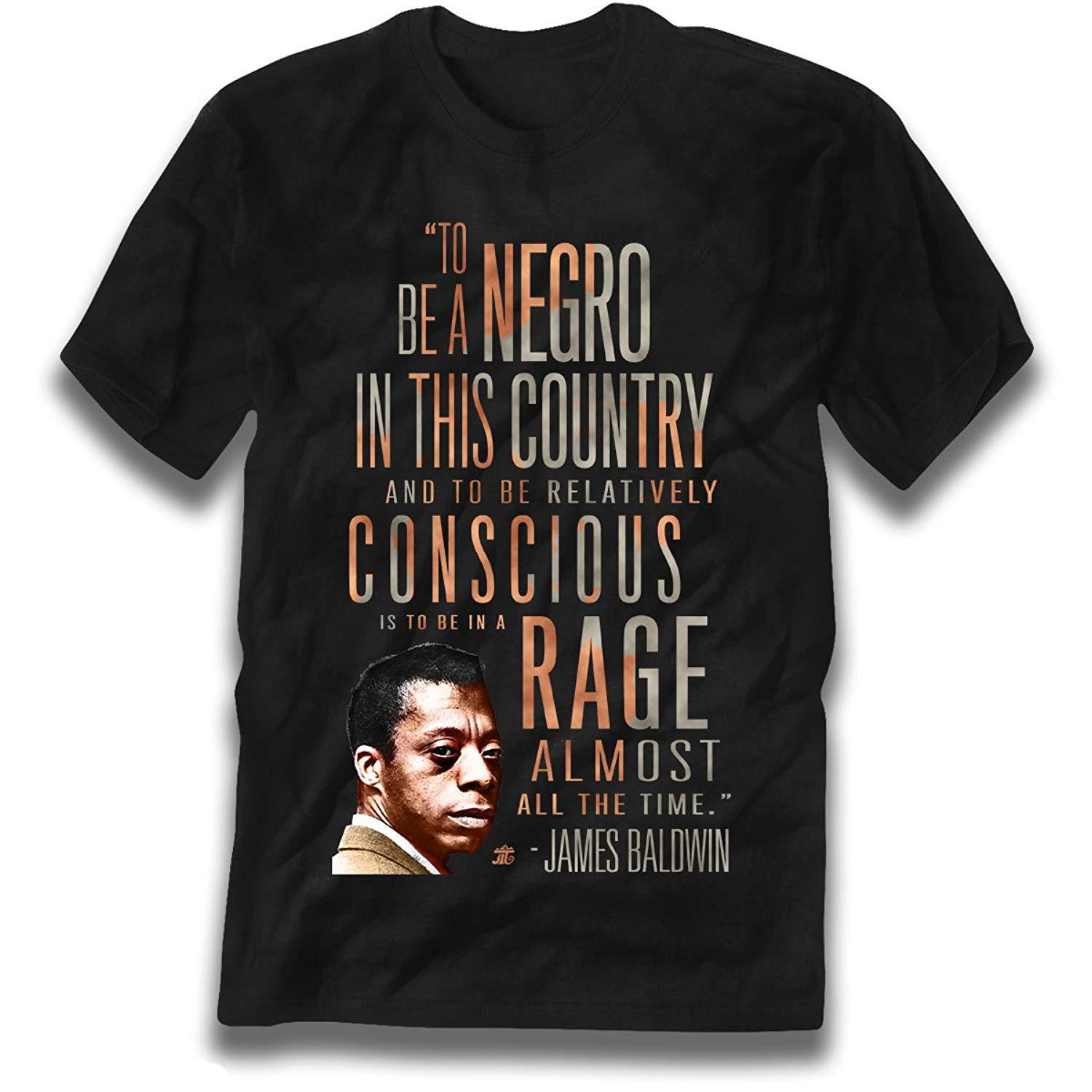 James Baldwin 'rage Almost All The Time' Wholesale Discount Tee Men's Fashion Short - Sleeve T Shirt Mens